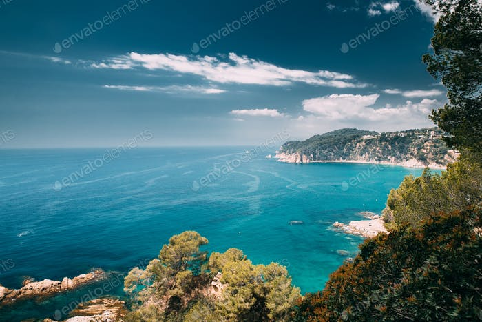 Tossa De Mar, Girona, Spain. Balearic Sea. Spring Spanish Nature