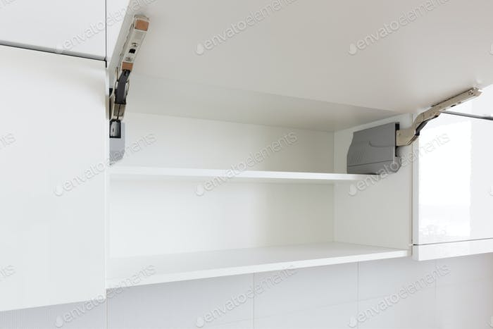 Opened Kitchen Cabinet