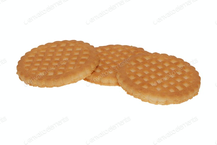 Group of cookies on a white background