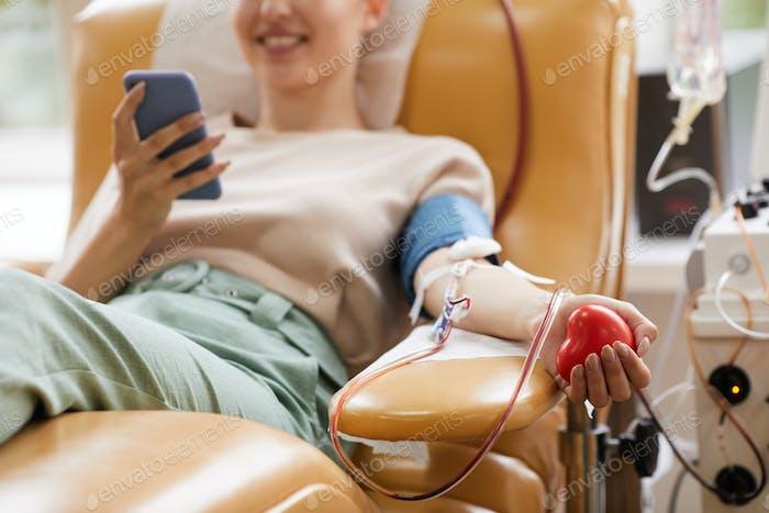Spender, der Blut spendet