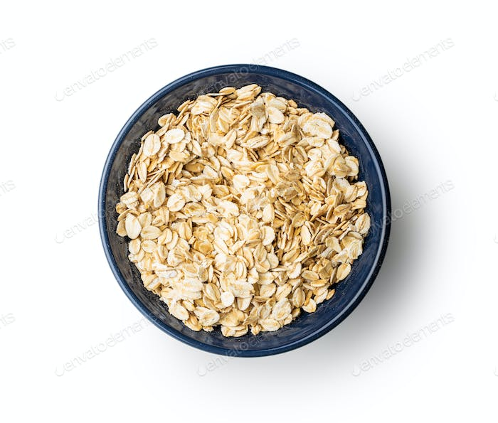 Cereal oatmeal in bowl