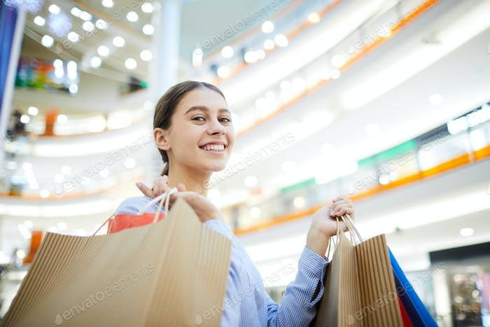 Cheerful shopper