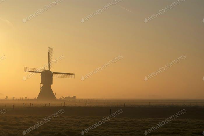 Windmill Zandwijkse Molen near Uppel in the Dutch province Noord-Brabant