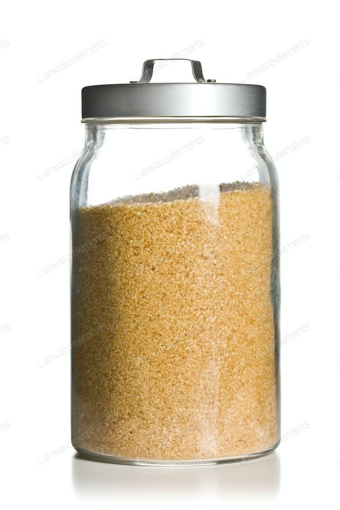 brown sugar in jar