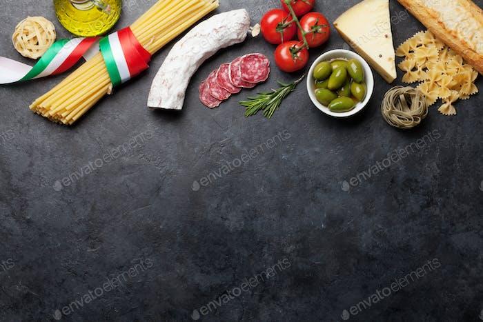 Italian cuisine food ingredients