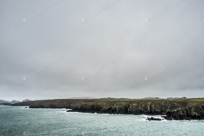 View along the coastline of Pembrokeshire National Park, Wales, UK.