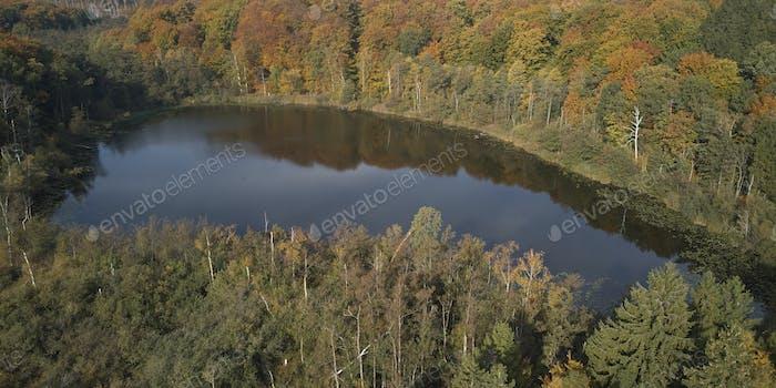 Luftbild Herbst Landschaft