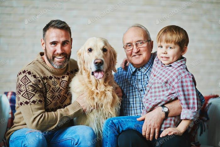 Men with pet