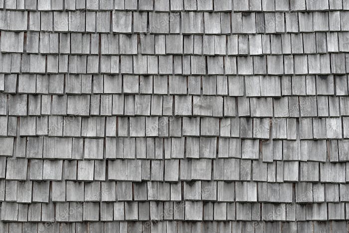 Old weathered wooden shingles