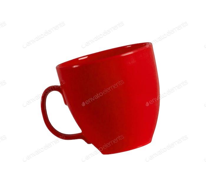 rote Tasse isoliert auf weiß