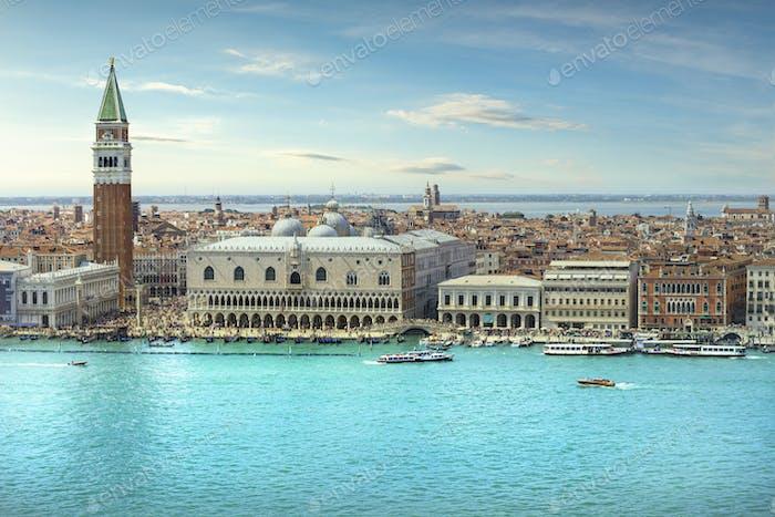 Venedig Grand Canal Luftbild. Italien