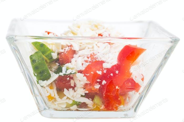 Traditioneller bulgarischer Salat Shopski.