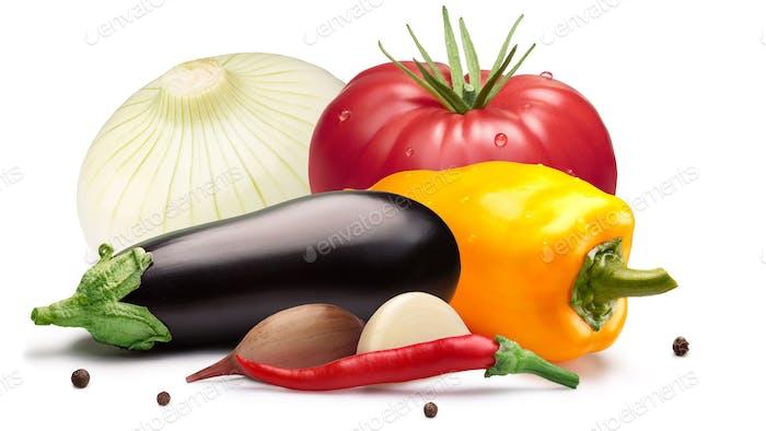 Tomaten, Paprika, Auberginen zum Einmachen, Wege
