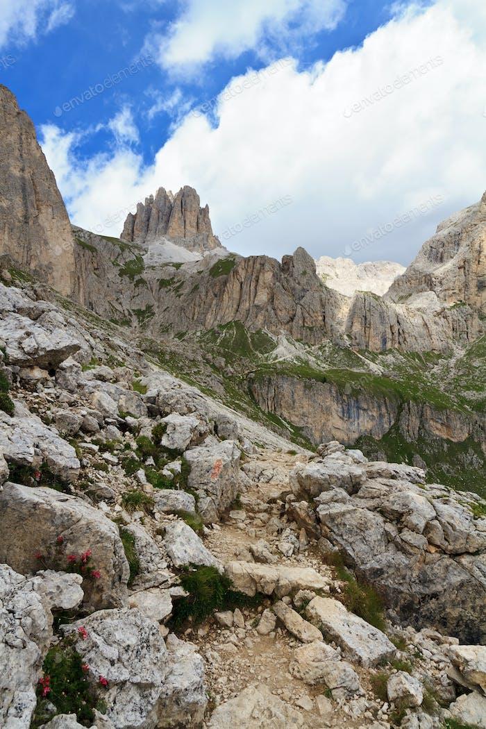 hike in Catinaccio Dolomites