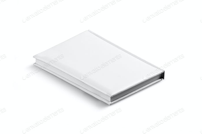 White Leather Agenda Isolated.