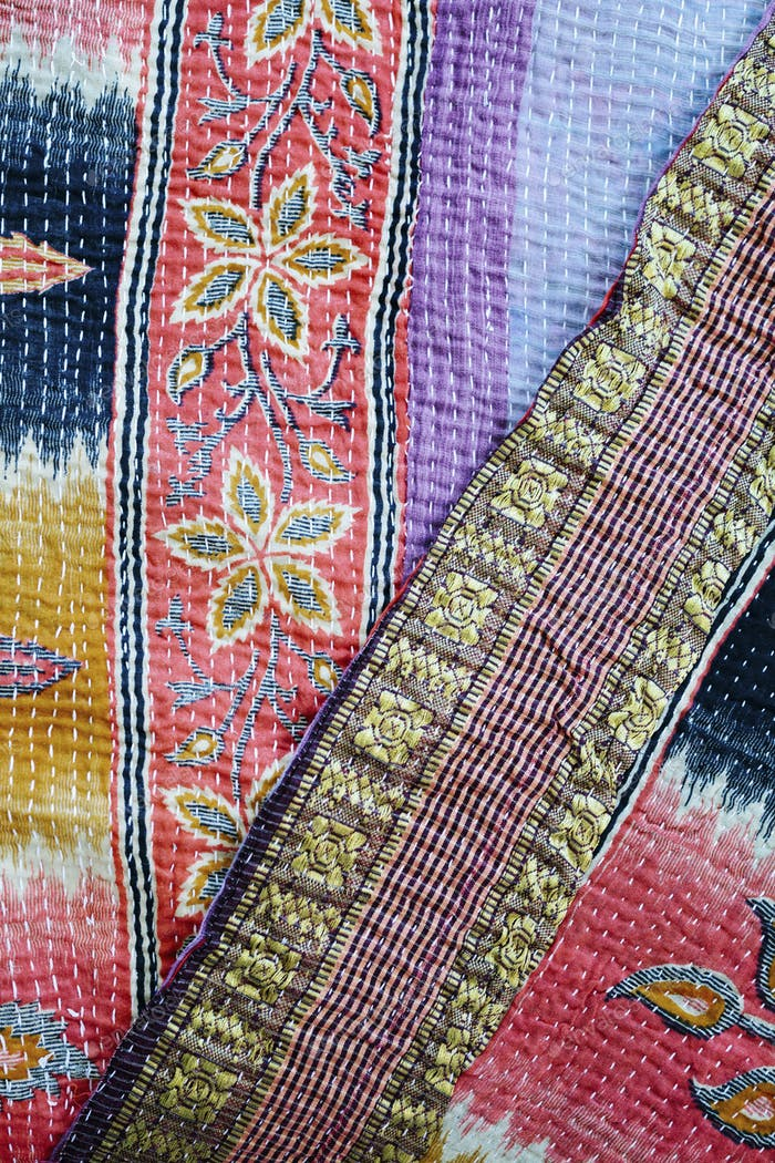 Quilts and stitching, faded fabric