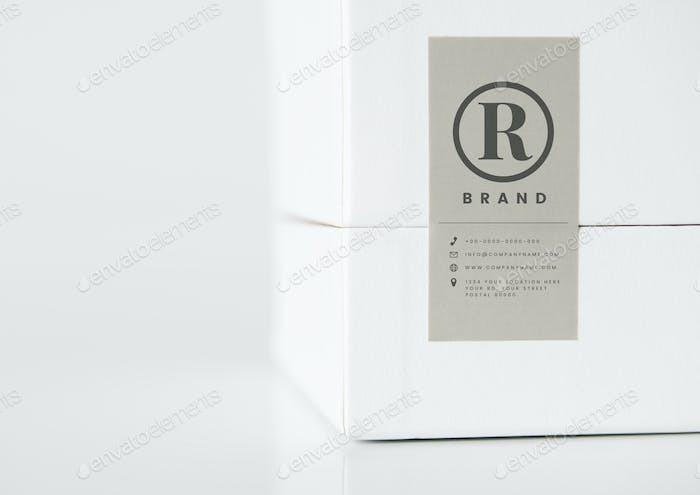 Simple white packaging box mockup