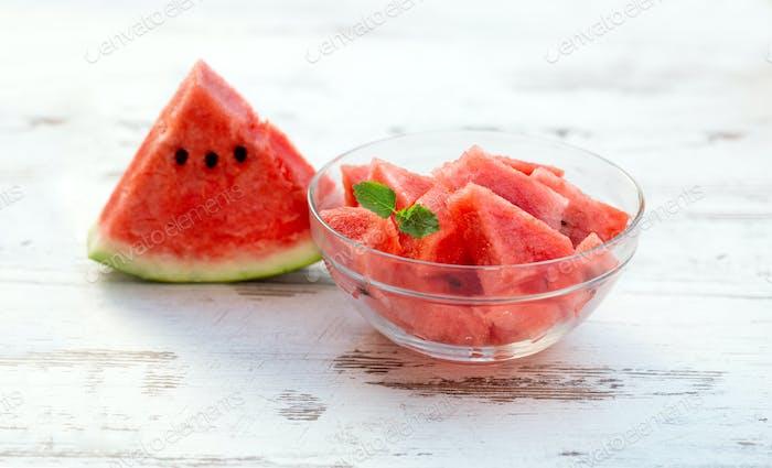 frische Scheiben Wassermelone