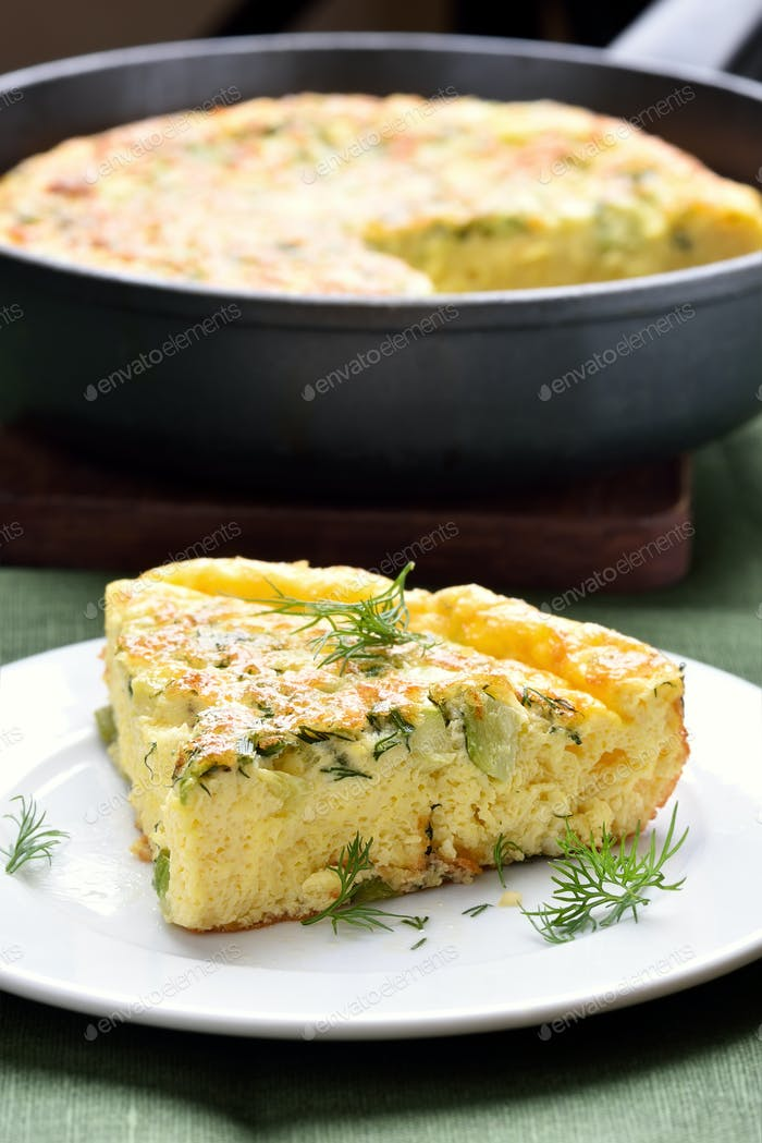 Piece of omelette