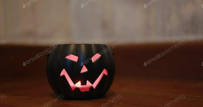 Pumpkin Halloween decoration lamp at home