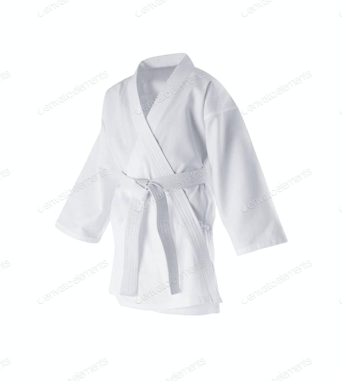 Judogi with white belt