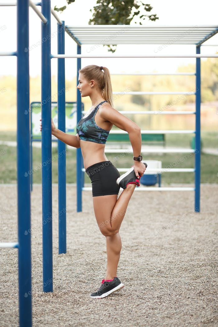 Women outdoor workout