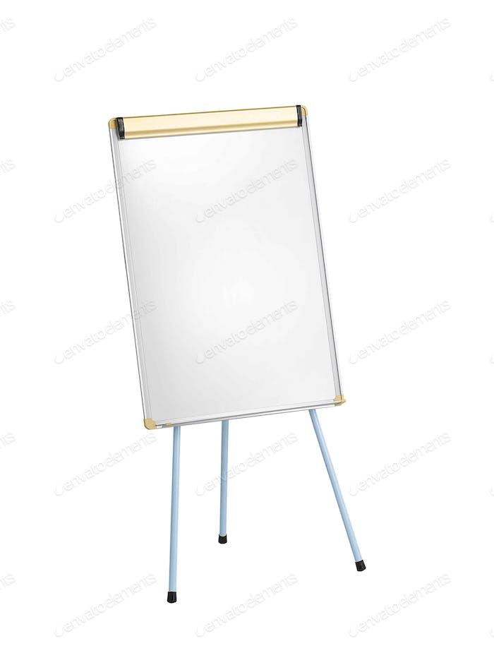 Whiteboard isolated on white background