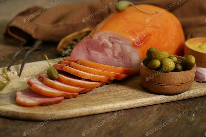 Geräuchertes Schweinefleisch