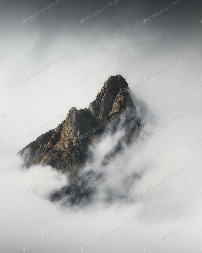 Misty Julian Alps in Slovenia