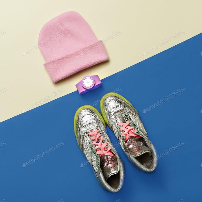 Urban Street Fashion Style minimal set Sneakers Watches Caps