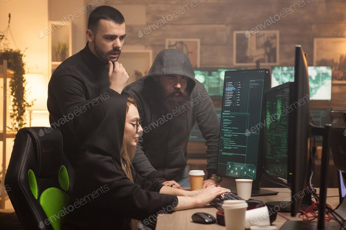 Cyber terrorist helping female hacker to break server