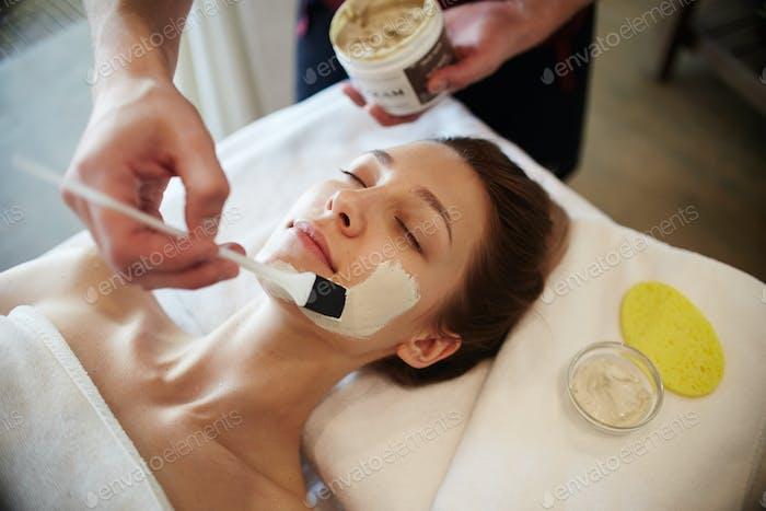 Woman Enjoying SPA Procedures