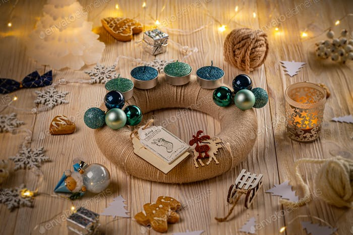 Advent wreath and accessories