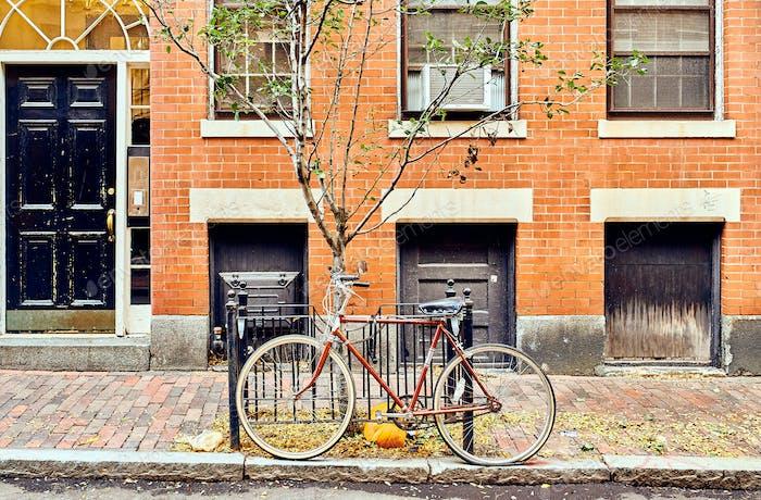 Street at Beacon Hill neighborhood, Boston