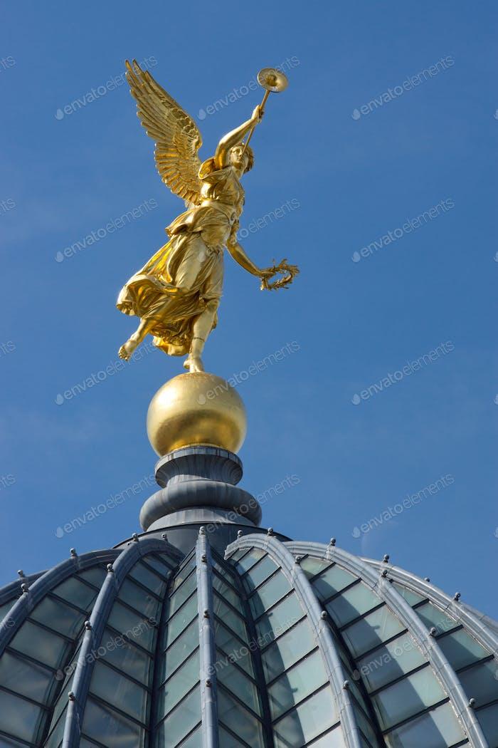 Gold angel in Dresden
