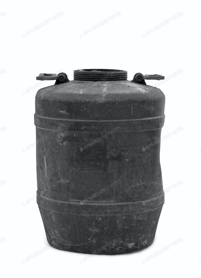 plastic black barrel