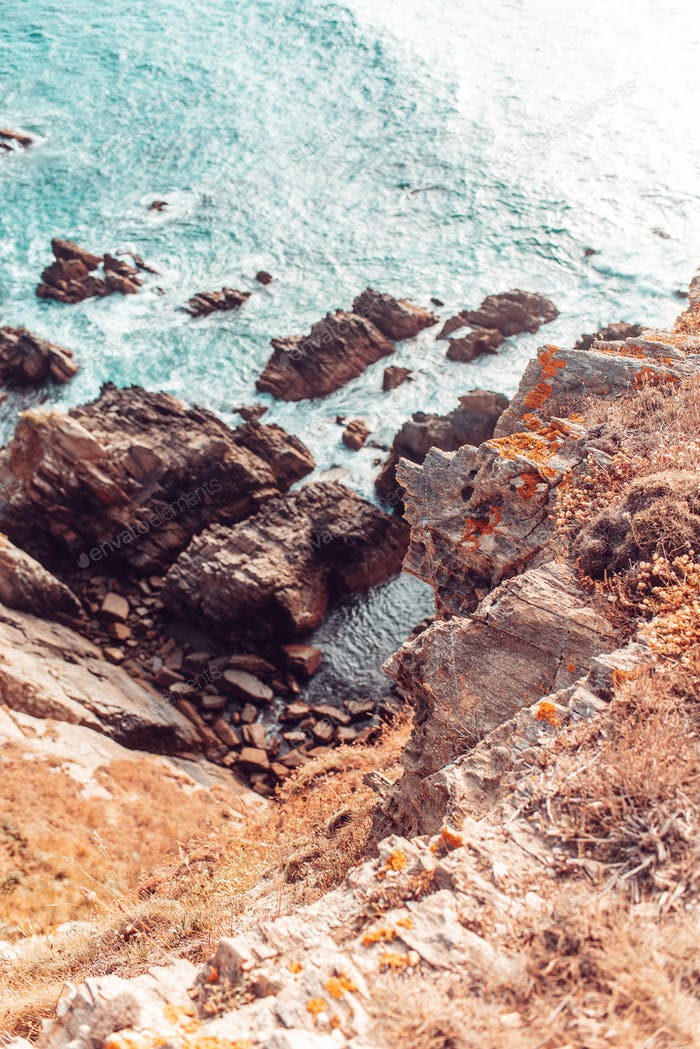 Details of rocks near the sea