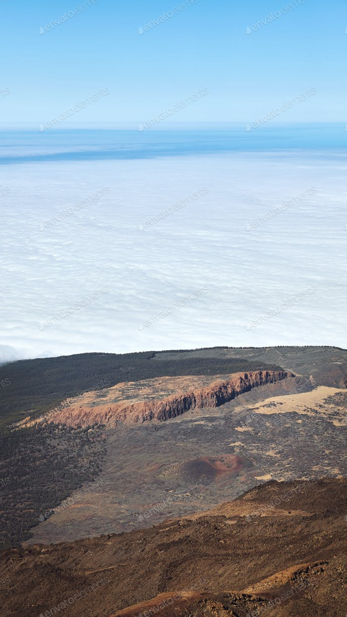 View from the top of Teide Volcano.