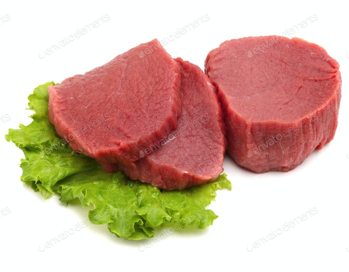 Raw beef meat.