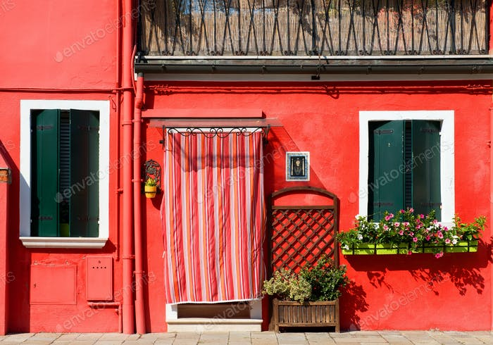 Red house on Burano