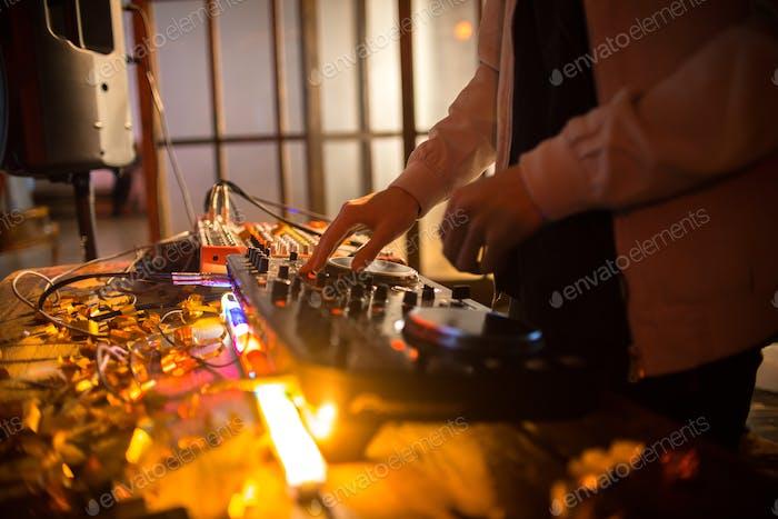 DJ at Club Party