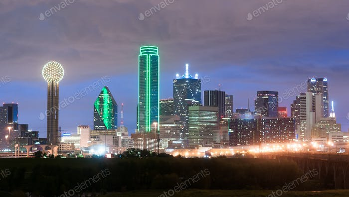 Downtown Dallas Skyline East Texas City Urban Landscape