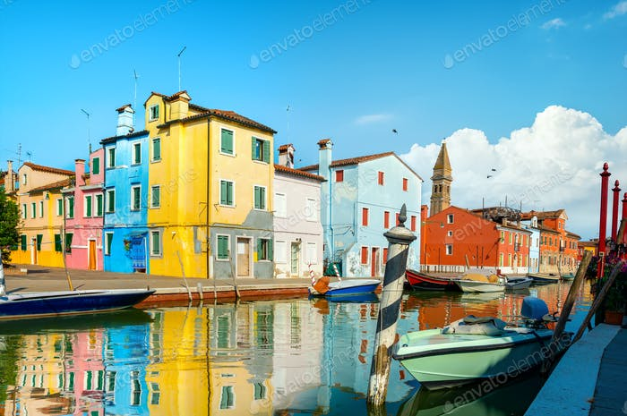 Boats and colored houses