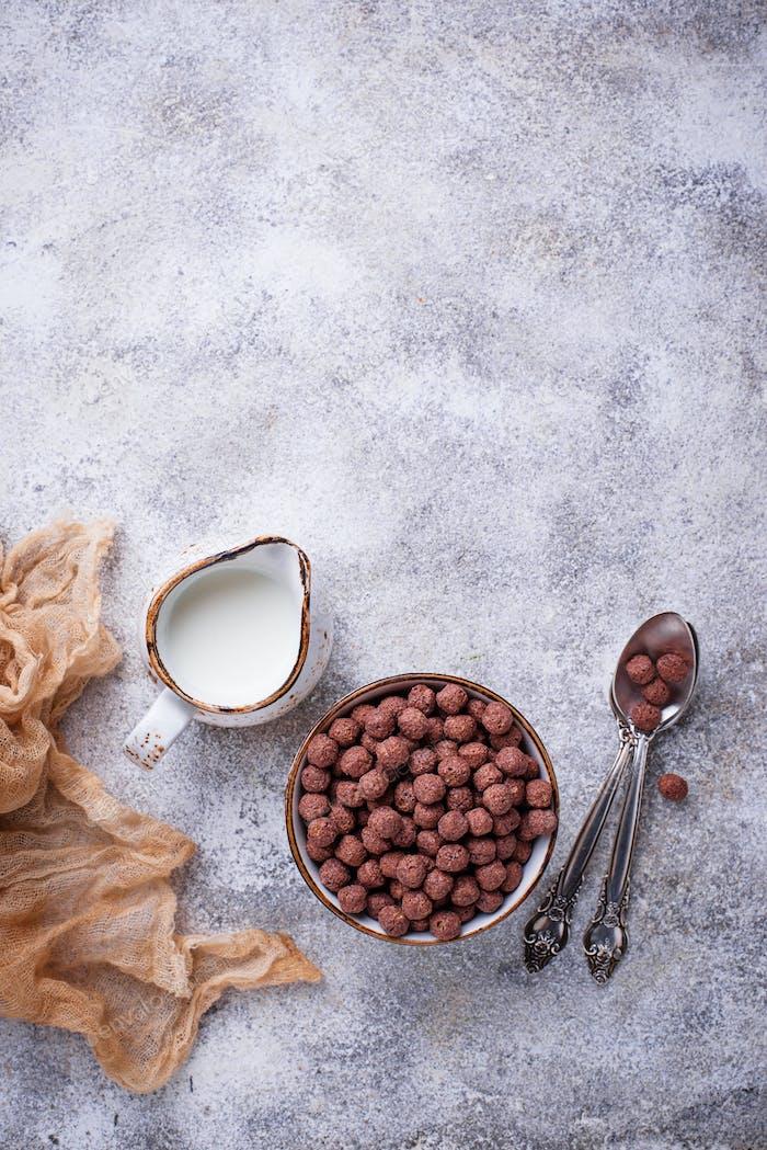 Kakaobällchen Cornflakes zum Frühstück