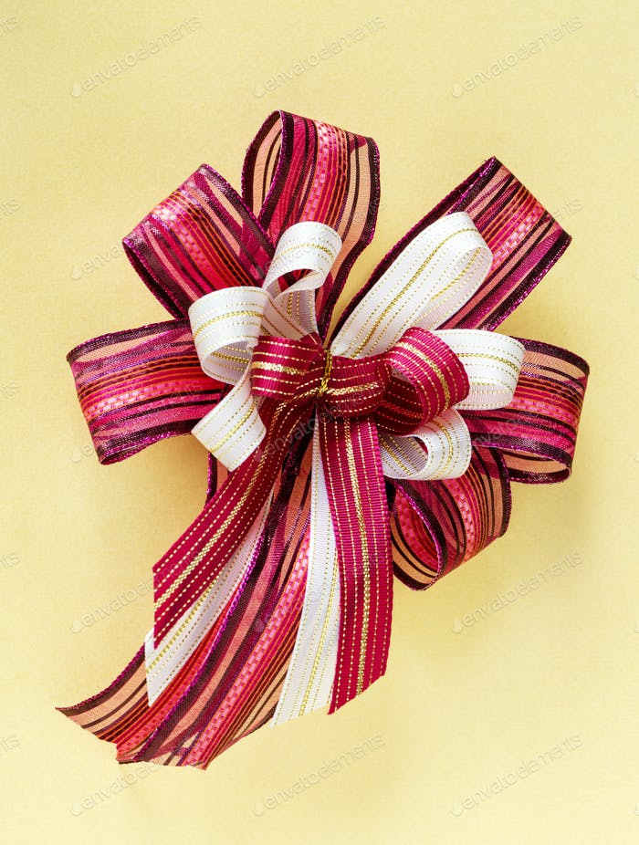 Closeup of decorative ribbon
