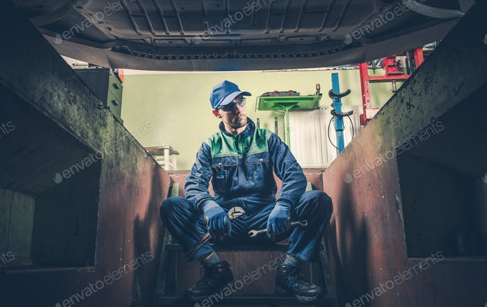 Depressed Car Mechanic