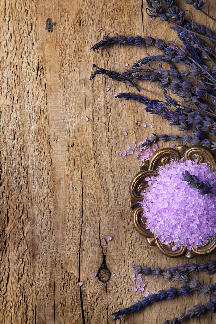 spa frame with lavender