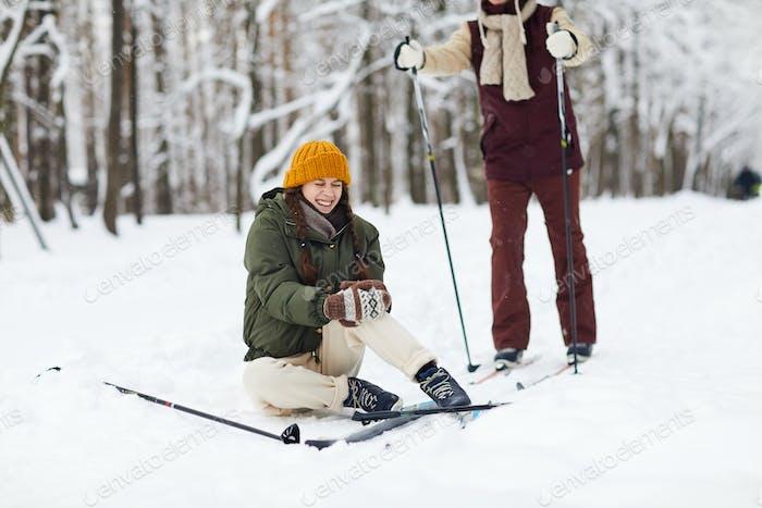 Woman Injured during Skiing