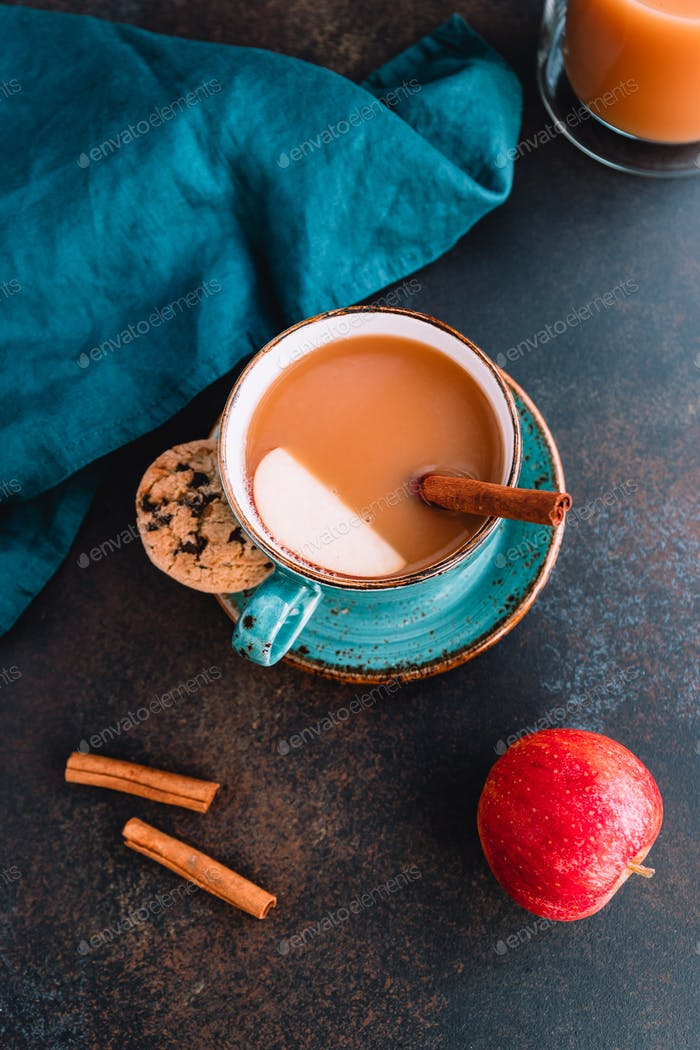 Wintertime chai-spiced apple cider