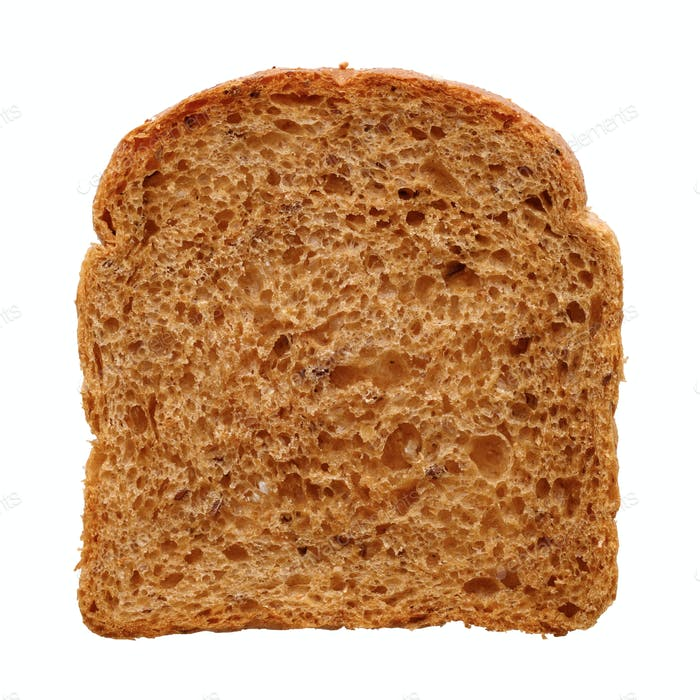 Slice of fresh multigrain bread